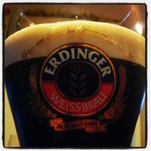 Guinness in the Erdinger glass. At home.