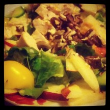 New salad experiment (roast chicken salad with orange dressing)