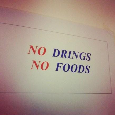 No drings