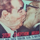 The famous kiss on the #Berlin wall