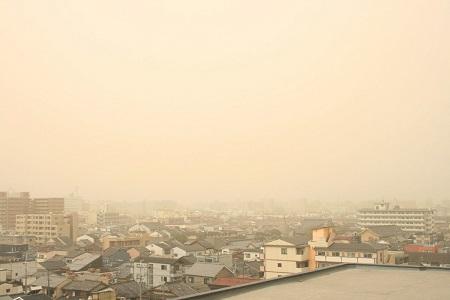 黄砂の原因は中国の砂漠化拡大によるもの