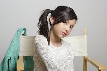 ポニーテールの少女の画像