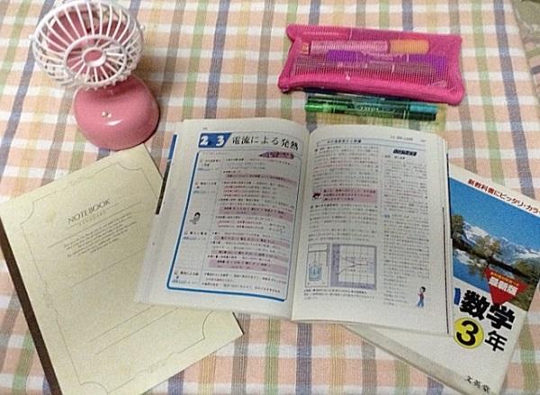 夏休みの宿題の画像