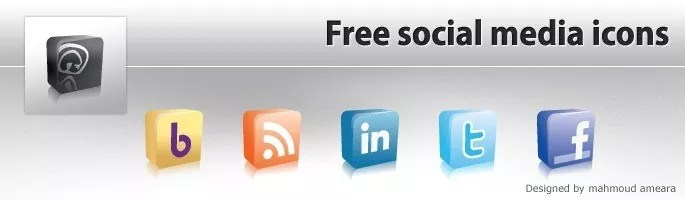 Free Icons - Social Media 3D Icon Pack