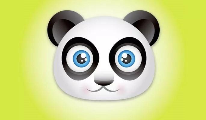 Panda Bear Face - Collection of useful illustrator tutorials