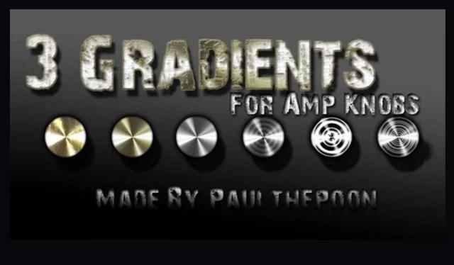 3 Amp Knob Gradients - Free Gradients Color for Photoshop
