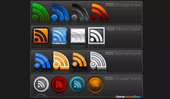 345 Free RSS Icons - Free RSS Feed Icons