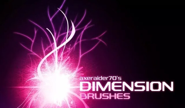 Dimension Brushes by Axeraider70 - Amazing light photoshop brushes
