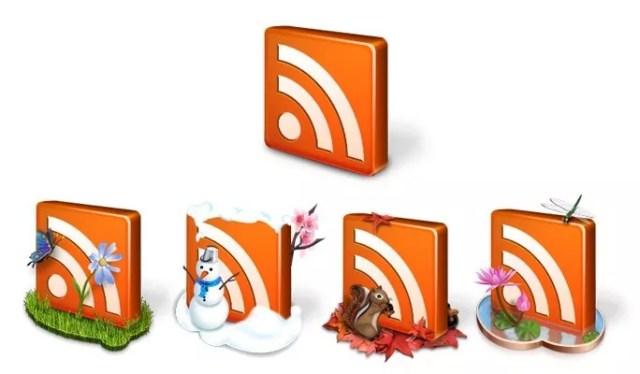 Free Seasonal RSS Icon Pack - Free RSS Feed Icons