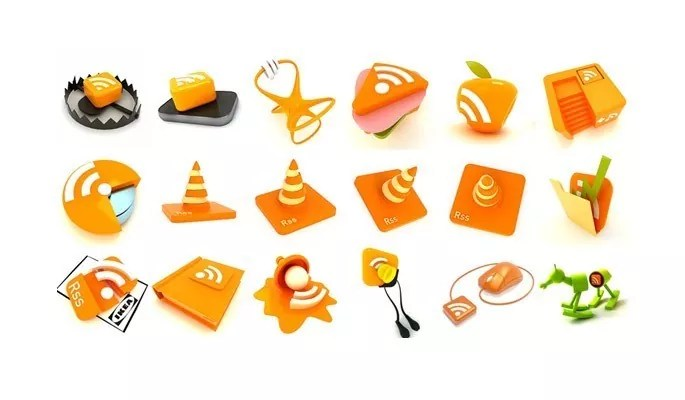 RSS feed button pack - Free RSS Feed Icons