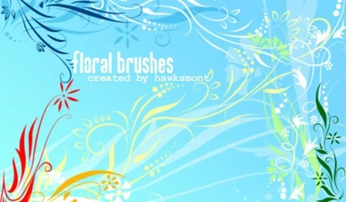 Floral brushes - Free floral brushes for photoshop