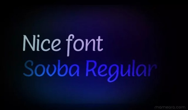 Sovba Regular - 18 High quality free fonts for creative designs