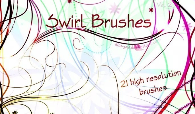 Swirl Brushes Volume 2 - Free floral brushes for photoshop