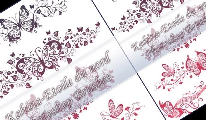ornamental brushes set 1 - Free floral brushes for photoshop