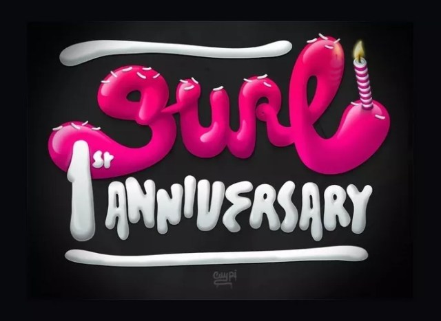 1st Anniversary - 23 of Inspirational Typography