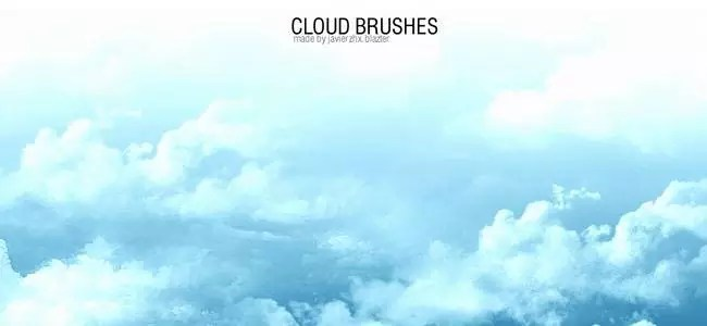 Cloud Brushes01 - 40+ beautiful Photoshop Cloud Brushes
