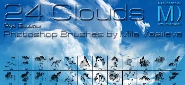 Cloud Brushes10 - 40+ Beautiful Photoshop Cloud Brushes
