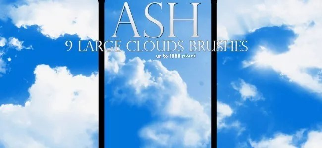 Cloud Brushes15 - 40+ Beautiful Photoshop Cloud Brushes