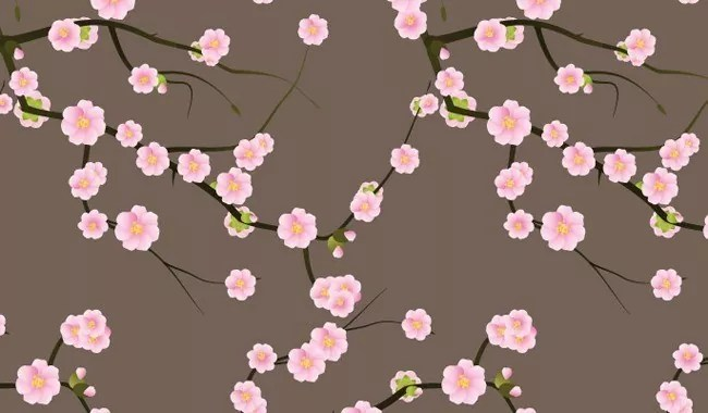 First spring blossoms - Collection of free Photoshop patterns