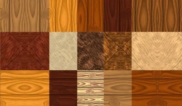 Wood Pattern Textures Set - Collection of free Photoshop patterns