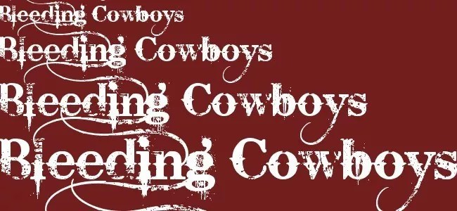 Bleeding Cowboys - Download Free Dirty Fonts