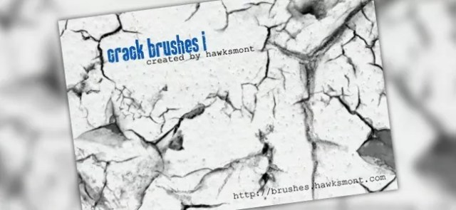 Crack Brushes I - 450+ Free Grunge Photoshop Brushes