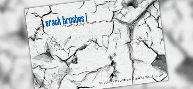 Crack Brushes I - 450+ Free Grunge Photoshop Brushes