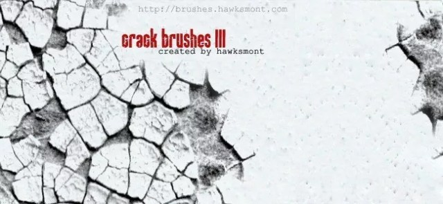 Cracks Brushes III - 450+ Free Grunge Photoshop Brushes