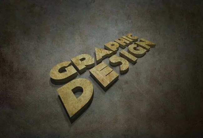 Final - 3D Text Tutorial With Illustrator and Photoshop