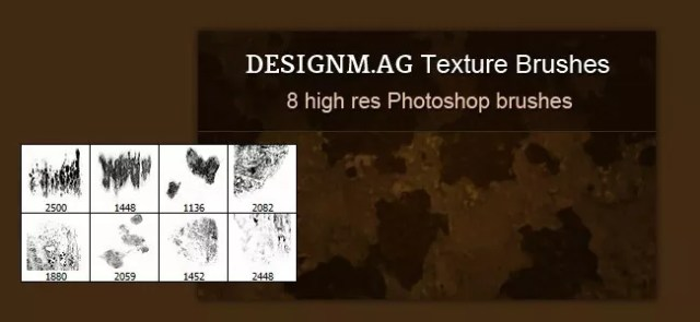 High Res Texture Brushes for Photoshop - 450+ Free Grunge Photoshop Brushes
