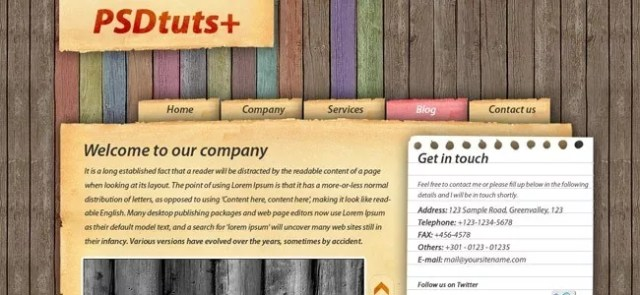 How to Make a Highly Textured Site Layout in Photoshop - 21 Photoshop Web Design Layout Tutorials