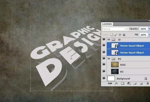 Step07 - 3D Grunge Text Tutorial With Illustrator and Photoshop