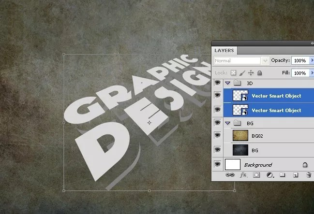Step07 - 3D Text Tutorial With Illustrator and Photoshop