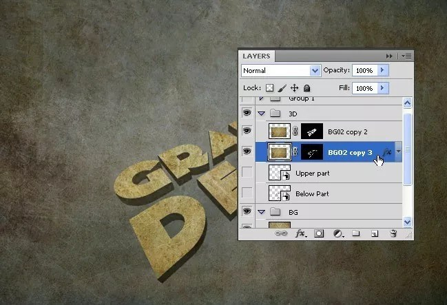 Step11 - 3D Text Tutorial With Illustrator and Photoshop