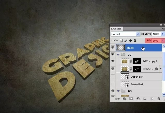 Step12 - 3D Grunge Text Tutorial With Illustrator and Photoshop