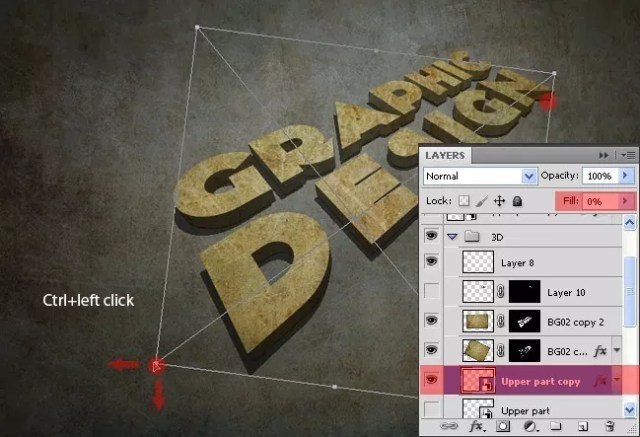 Step13 - 3D Grunge Text Tutorial With Illustrator and Photoshop
