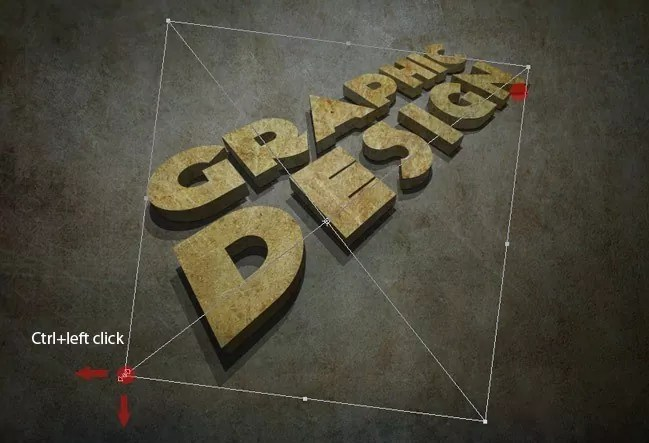 Step14 - 3D Text Tutorial With Illustrator and Photoshop