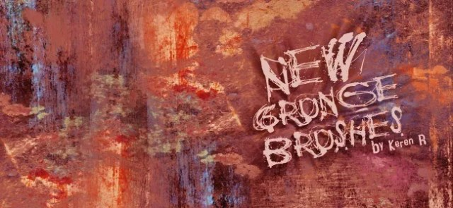 new set of grungy brushes - 450+ Free Grunge Photoshop Brushes