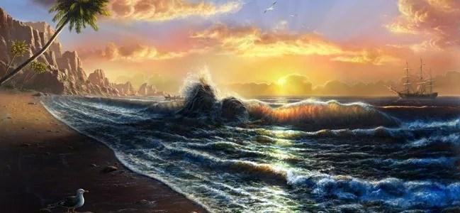 Tahiti Beach Sunset - Amazing high resolution wallpapers #2