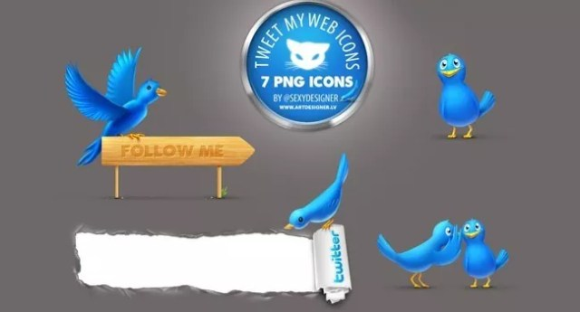 twitter03 - Twitter Icons and Buttons Collection For Your Next Design