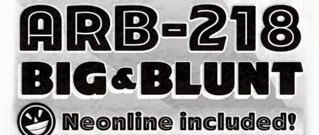ARB-218 Big Blunt font