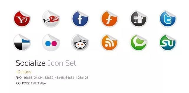 Social icons08 - 25 Set of Amazing Free Social Icons