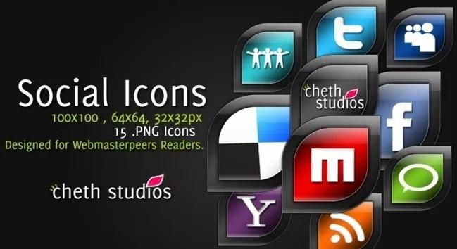 Social icons11 - 25 Set of Amazing Free Social Icons