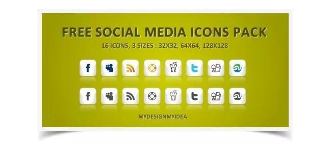 Social icons17 - 25 Set of Amazing Free Social Icons