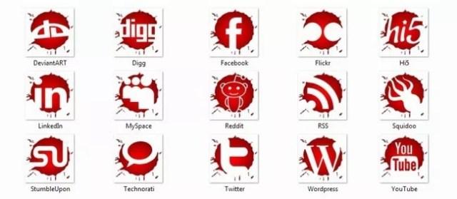 Social icons19 - 25 Set of Amazing Free Social Icons