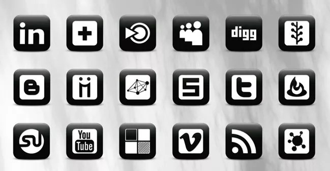 Social icons21 - 25 Set of Amazing Free Social Icons