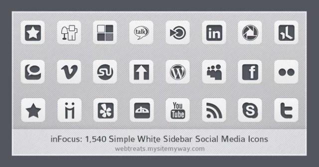 Social icons25 - 25 Set of Amazing Free Social Icons