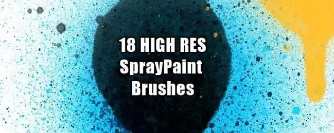 SprayPaintBrush 01 - 100+ Free Spray and Splatter Paint Photoshop Brushes
