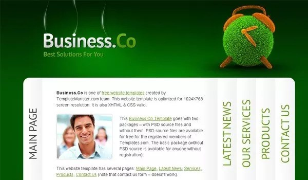Business Website Template - Creative and Beautiful Collection of Free HTML5 & CSS3 Templates