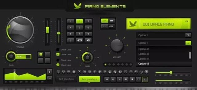 piano elements - Weekly Fresh Web Design Freebies – Vol. 21 (12-14-2011)